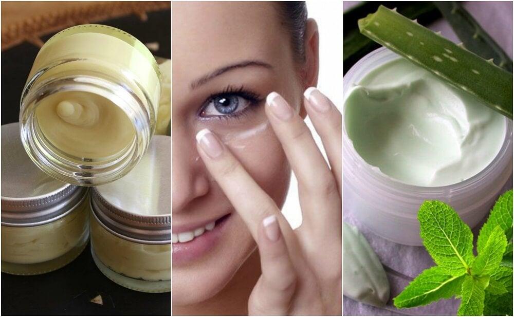 5 cremas naturales para el contorno de ojos