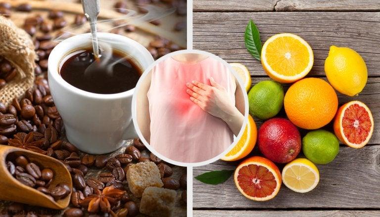 7 alimentos que debes evitar si sufres reflujo ácido
