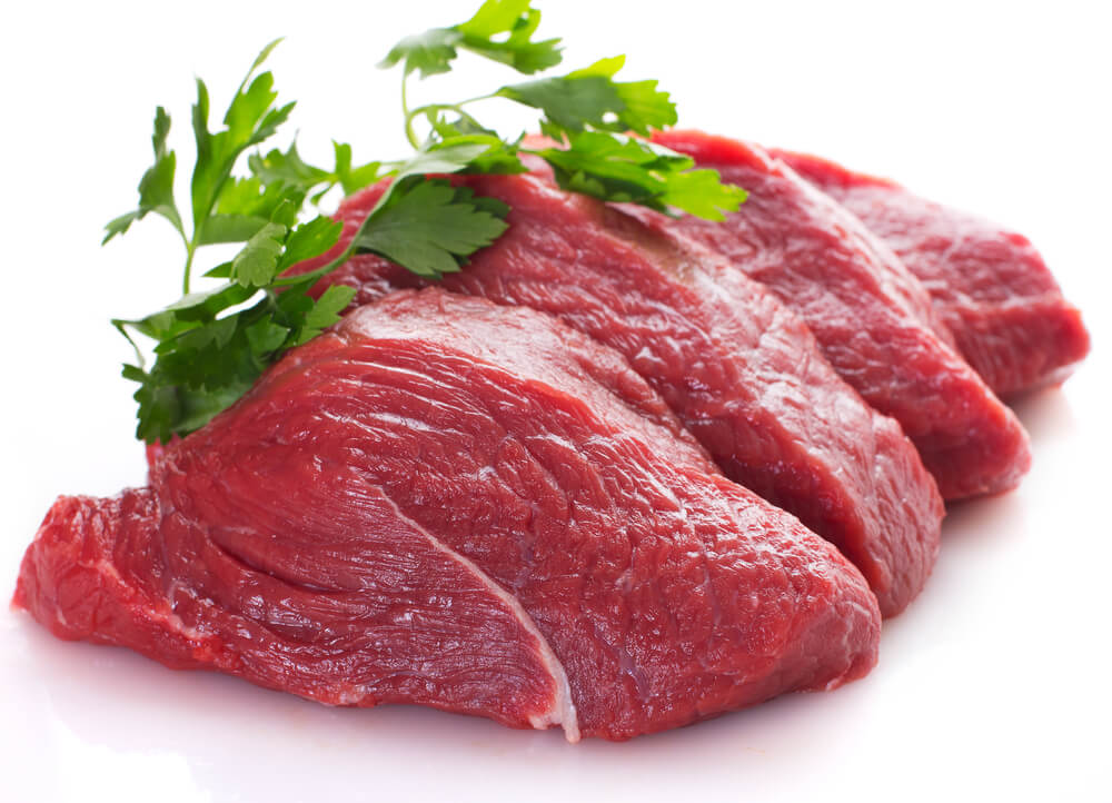 Carnes rojas magras que aportan hierro.