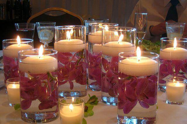 Ideas creativas con vasos iluminados