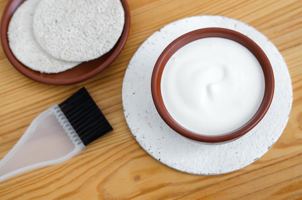 Mascarilla facial de yogurt y menta para todo tipo de rostro
