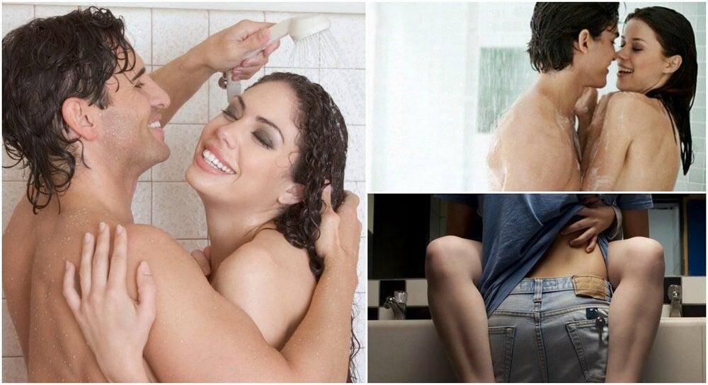 Posturas para hacer el amor en el baño
