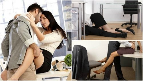 Posturas para hacer el amor en una oficina