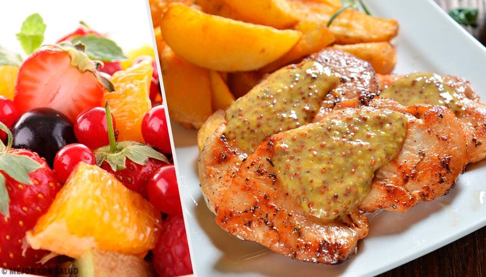 Receta de pechuga de pollo en salsa de frutas