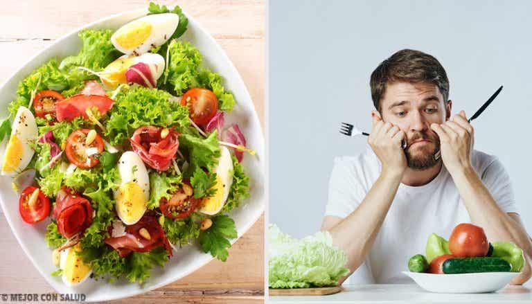 ¿Se puede engordar con menús vegetarianos?