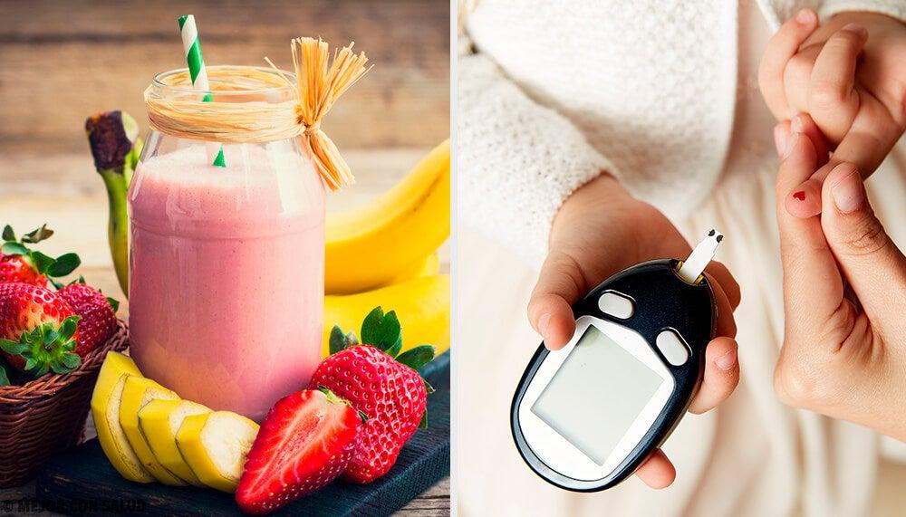 Smoothies frutales que no ocasionan picos de glucosa