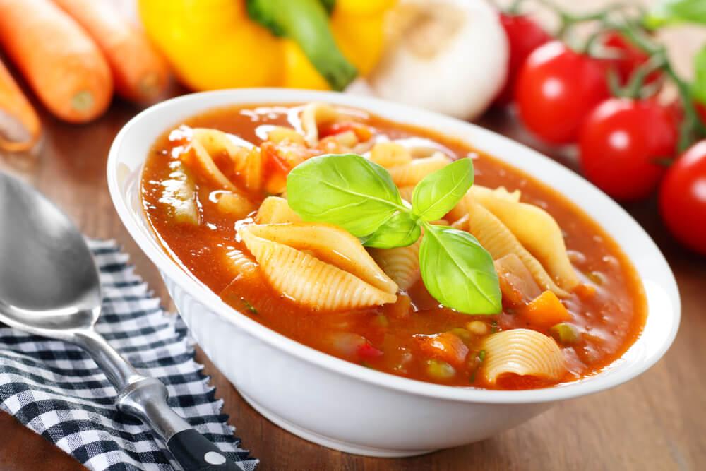 Sopa italiana vegetariana.