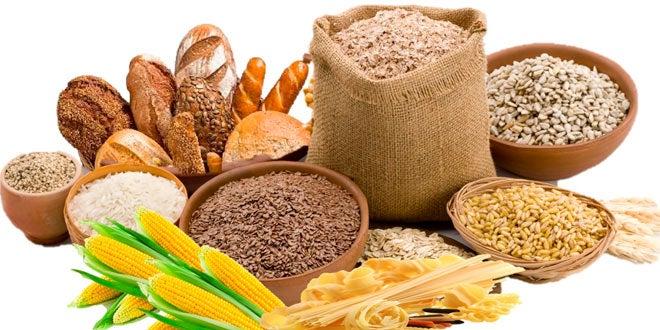 Alimentos ricos en carbohidratos.