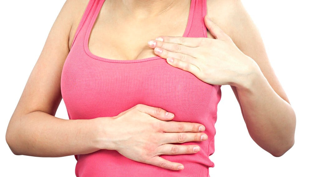 Autoexamen de mama para prevenir el cáncer de mama.