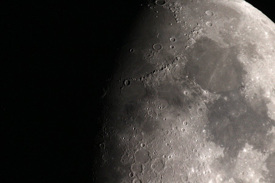 La luna y los seres humanos.