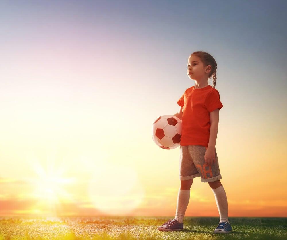 Niña futbolista