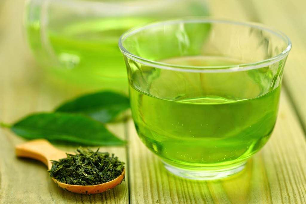 Té verde para perder peso.
