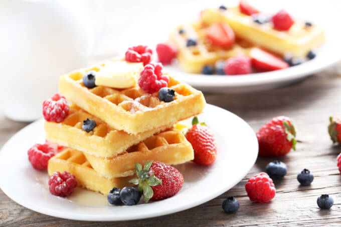 3 recetas de waffles altos en proteína que debes probar