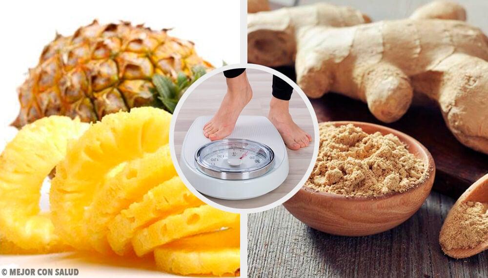 Batido de piña y jengibre para perder peso — Mejor con Salud