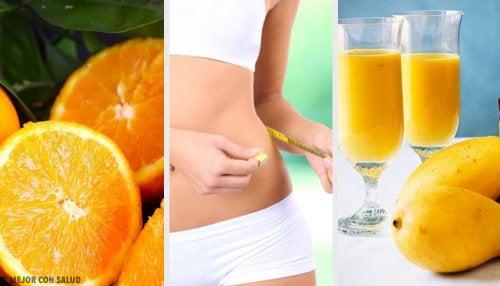 Batido naranja con calabaza, pomelo y mango para perder peso