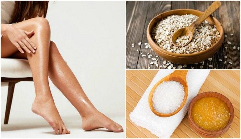Cómo preparar 5 remedios exfoliantes para blanquear las rodillas