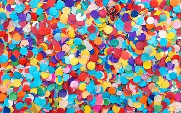 Cuadros con confeti