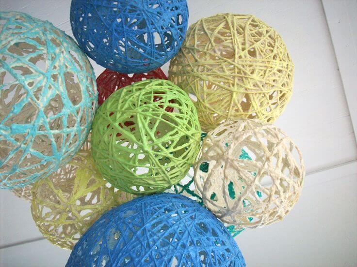 Decoraciones con globos de hilo