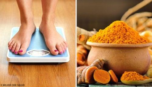 la curcuma es buena para bajar de peso