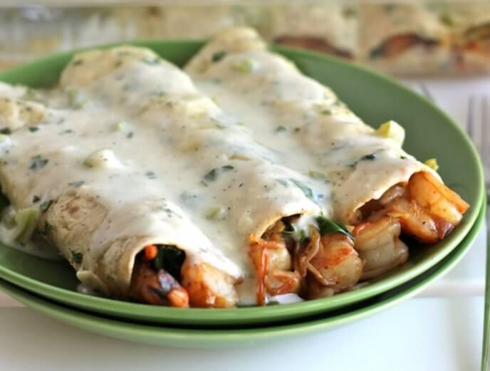 Deliciosa receta de enchiladas de camarón