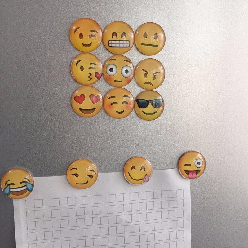 Imanes para la nevera de emojis