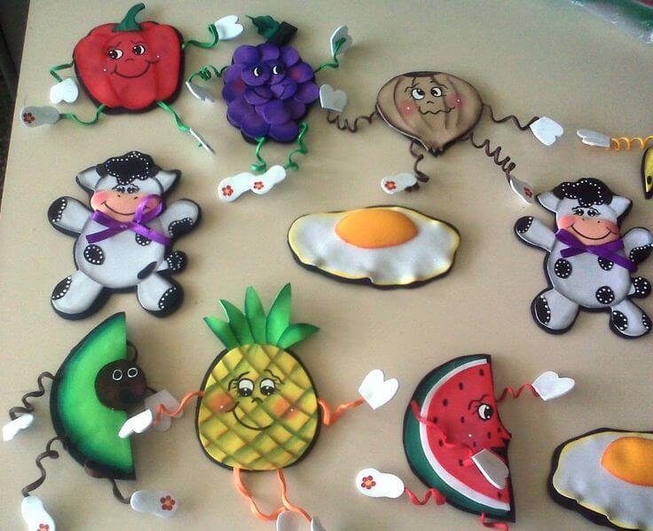 Imanes para la nevera:frutas