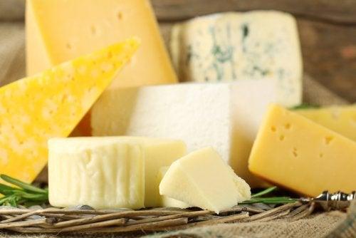 Tipos de queso y su valor nutricional.