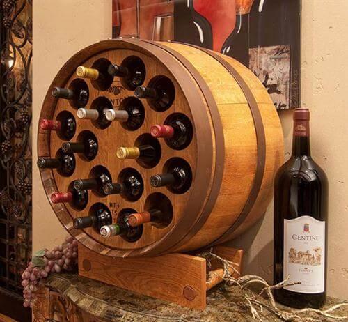 Mueble para bebidas hecho con un barril o ciudades más baratas en España