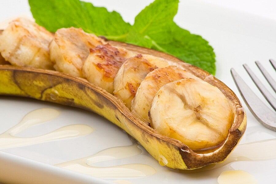 Plátano al horno
