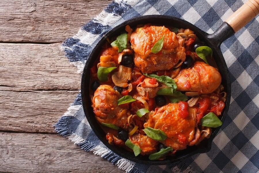 Receta deliciosa de pollo estilo cajún