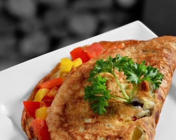 Receta para preparar omelette de verduras