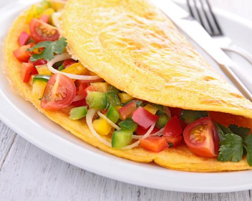 Receta de omelette verduras