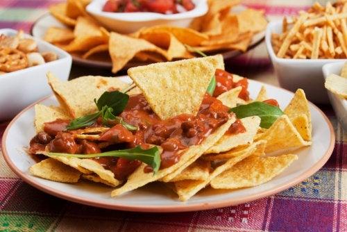 Tres recetas de nachos mexicanos