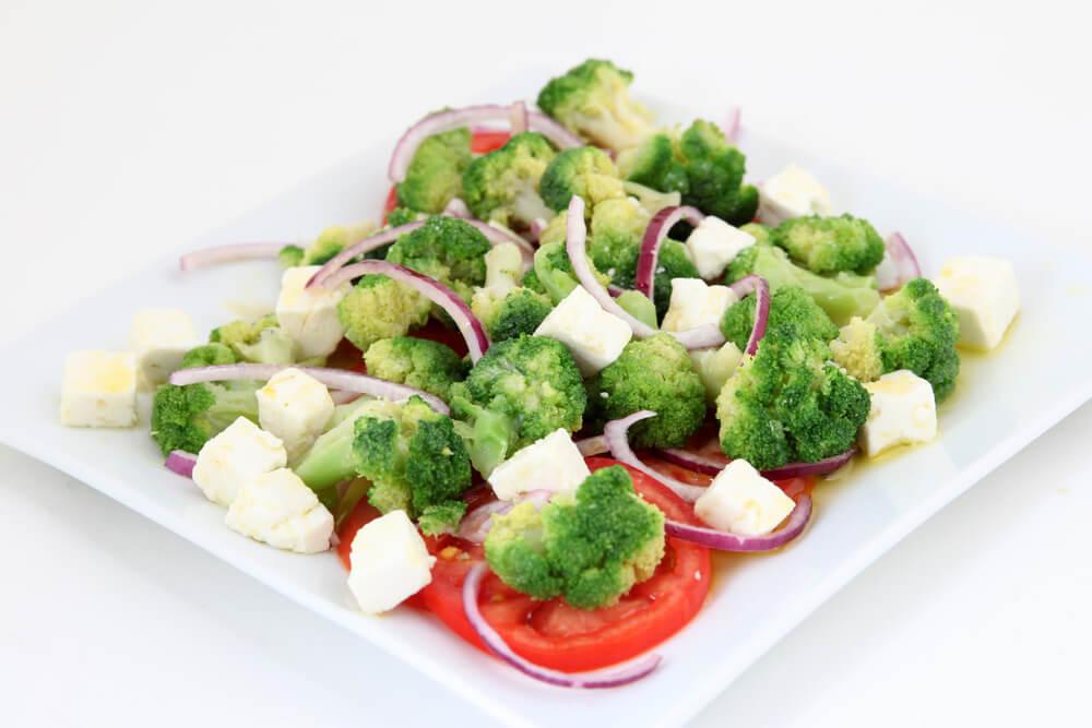Verduras al vapor como alimentación sana.