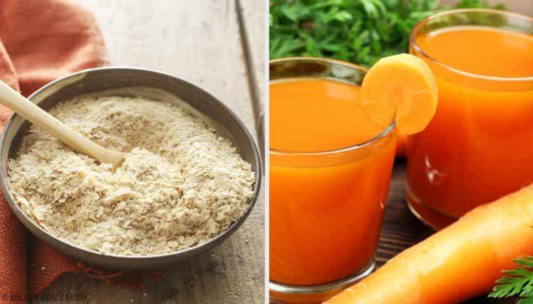 Zanahoria y levadura de cerveza para la falta de apetito