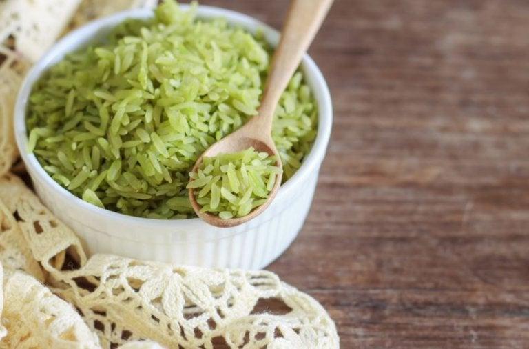 Receta deliciosa de arroz verde