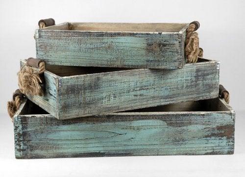 La madera es un elemento típico de la decoración rústica.