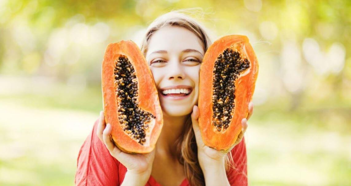 Mascarilla de papaya como astringente casero