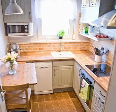 Cocinas peque as 6 ideas geniales para decorarlas - Cocinas pequenas en forma de u ...
