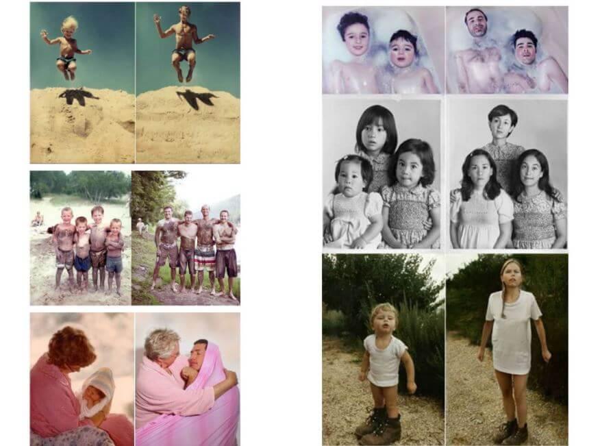 Colección de fotos antigua y nuevas.