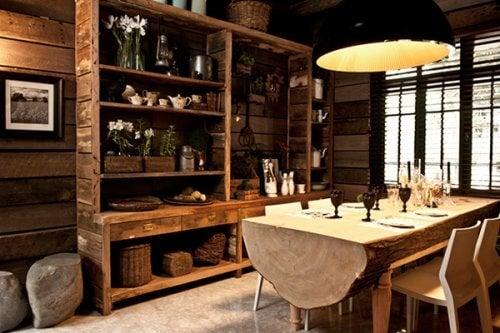 Los muebles de decoración rústica son fáciles de encontrar.