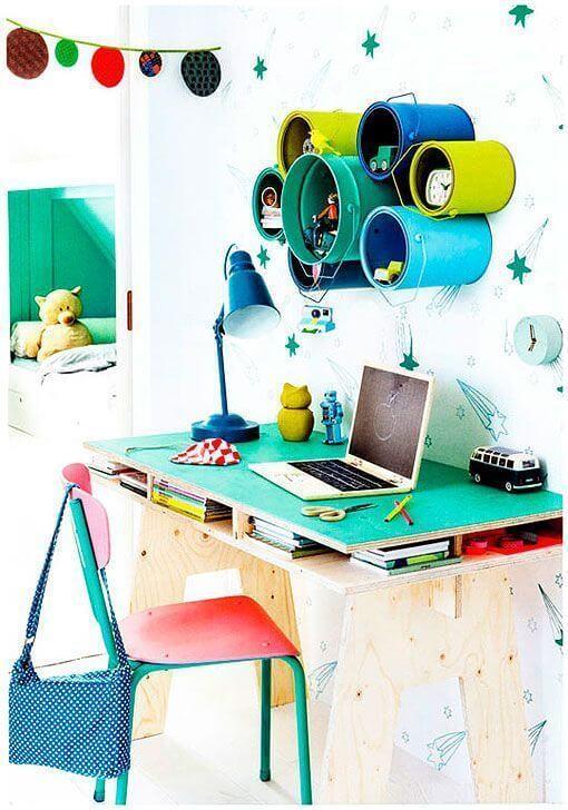 cubetas de pintura para escritorio