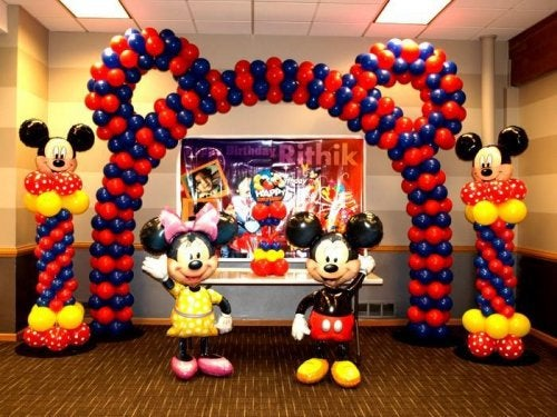 decoración-con-globos-arco-de-mickey