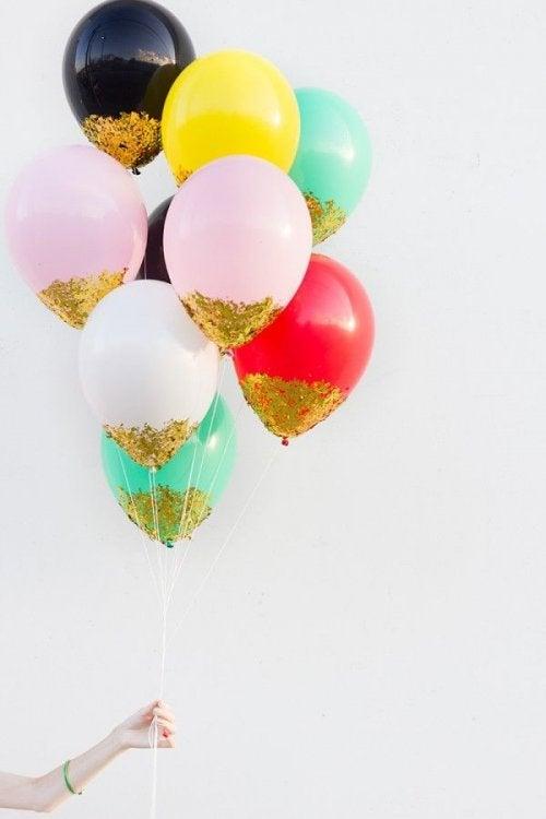 manualidades para fiestas de globos.