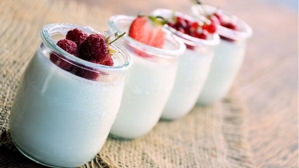 Yogures con frutas