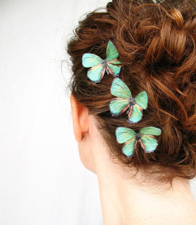 peinado con pinza mariposa