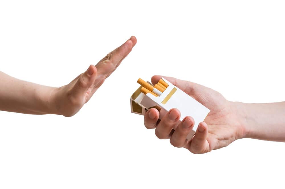 Ee bueno rechazar el consumo de tabaco.