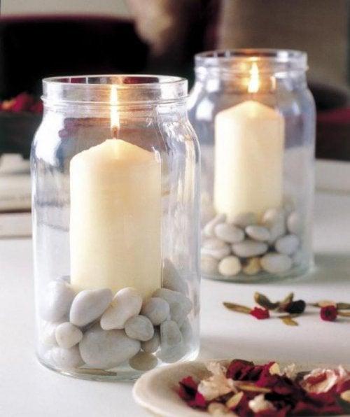 Ideas para centros de mesa: velas aromáticas