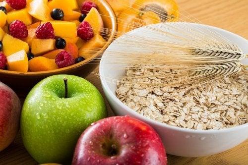 Alimentos que aportan fibra.