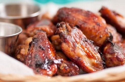 Deliciosa receta de alitas de pollo picantes
